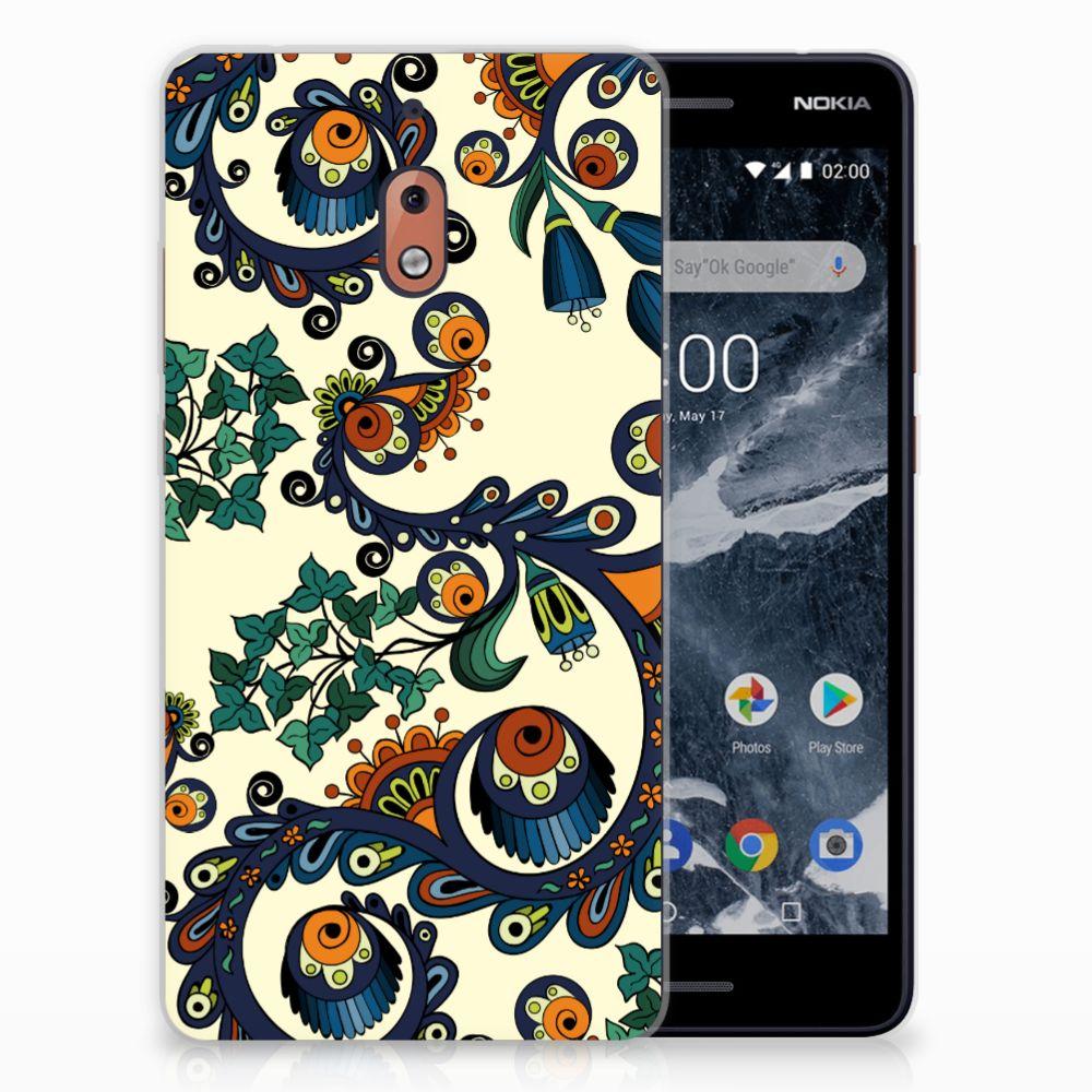 Nokia 2.1 (2018) TPU Hoesje Design Barok Flower