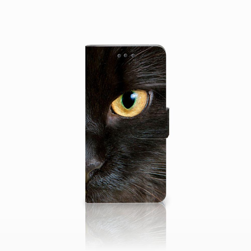 HTC U Play Uniek Boekhoesje Zwarte Kat