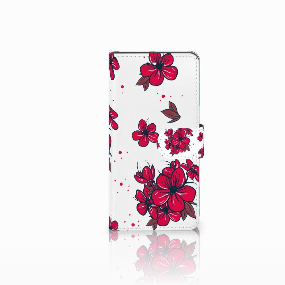 Huawei P8 Lite Smart (GR3) Boekhoesje Design Blossom Red