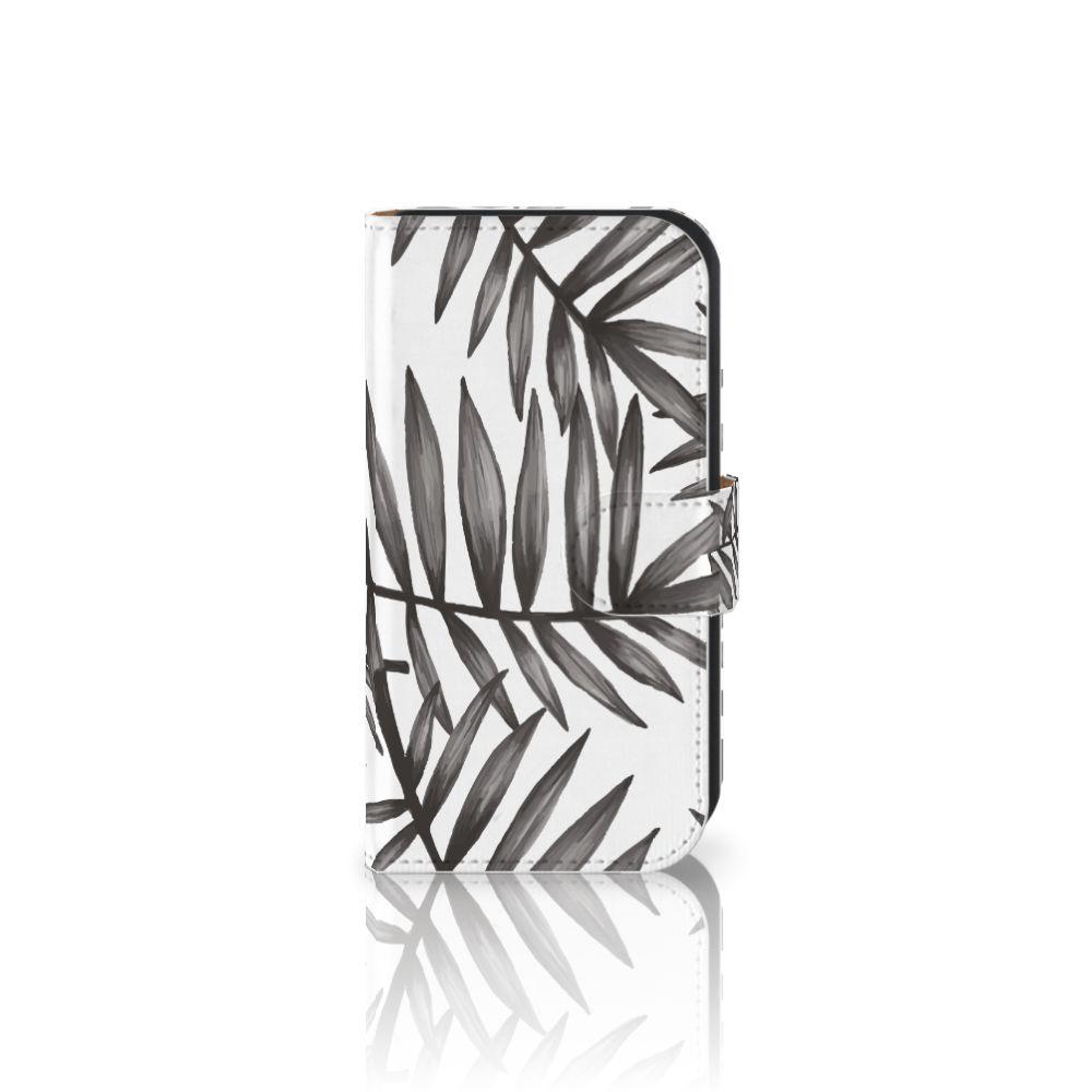 Samsung Galaxy Ace 4 4G (G357-FZ) Uniek Boekhoesje Leaves Grey