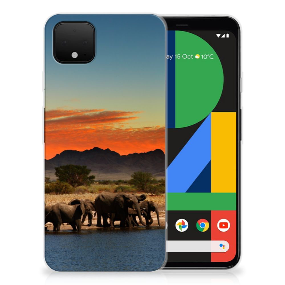 Google Pixel 4 XL TPU Hoesje Olifanten