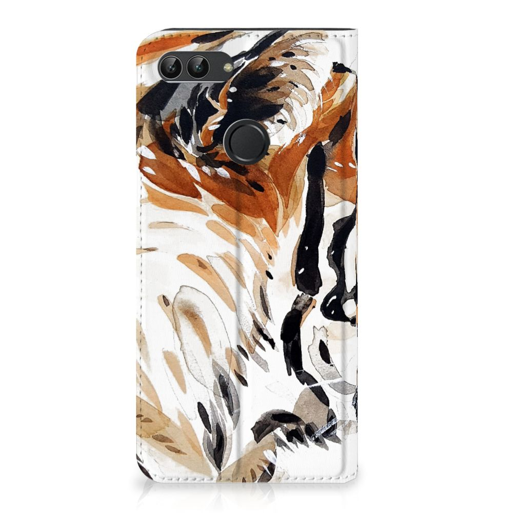 Bookcase Huawei P Smart Watercolor Tiger
