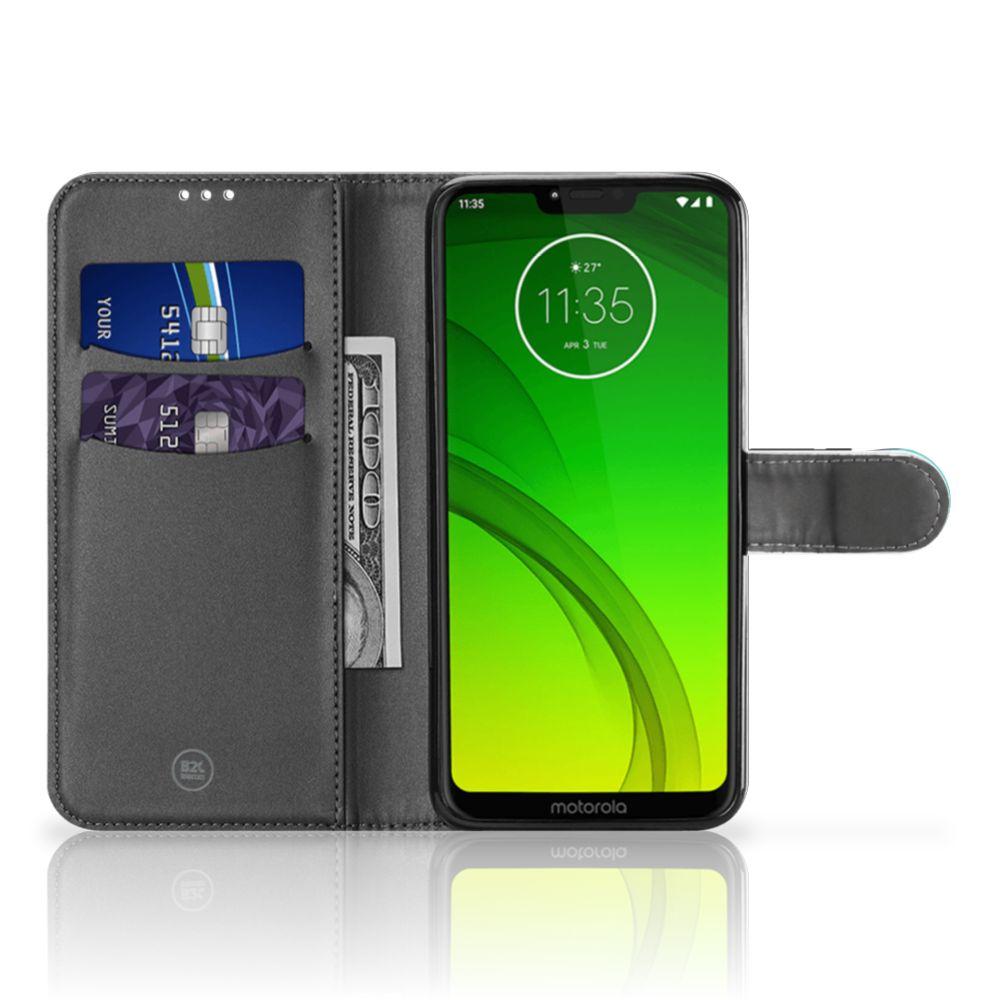 Motorola Moto G7 Power Wallet Case met Pasjes Popart Princess
