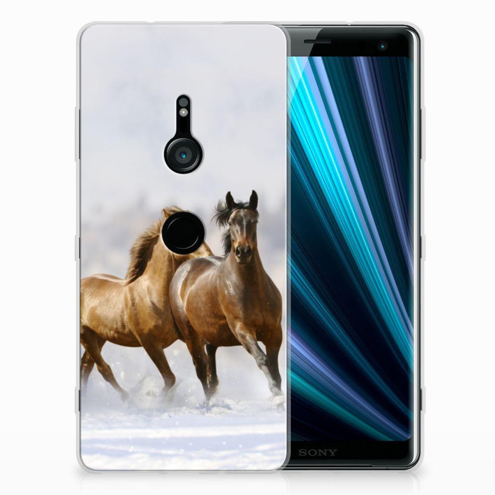 Sony Xperia XZ3 Uniek TPU Hoesje Paarden
