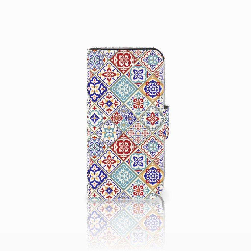 Apple iPhone 5   5s   SE Uniek Boekhoesje Tiles Color
