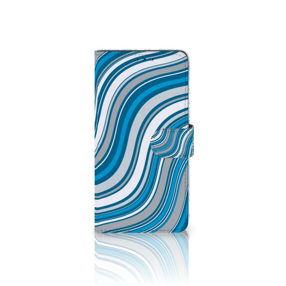 Samsung Galaxy A8 Plus (2018) Boekhoesje Design Waves Blue