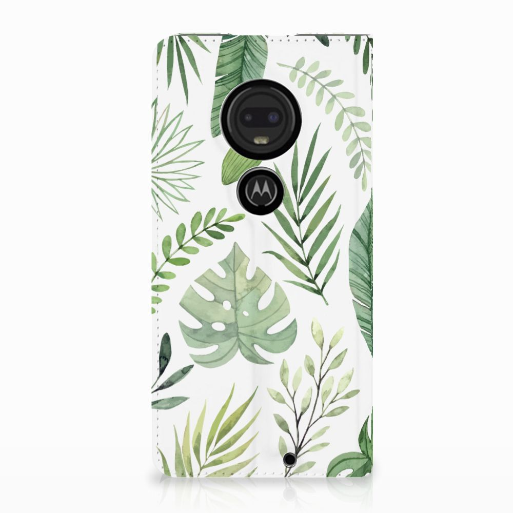 Motorola Moto G7 | G7 Plus Uniek Standcase Hoesje Leaves