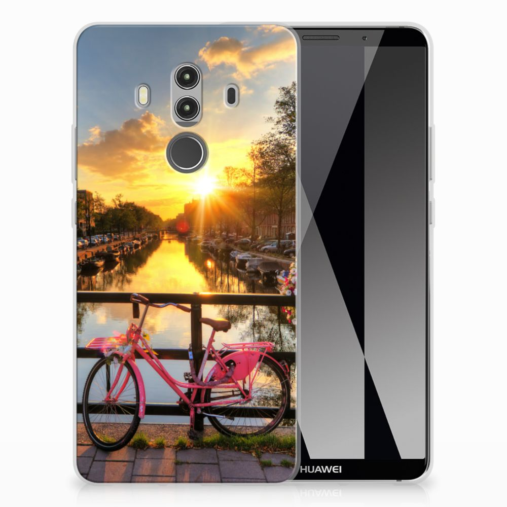 Huawei Mate 10 Pro Siliconen Back Cover Amsterdamse Grachten