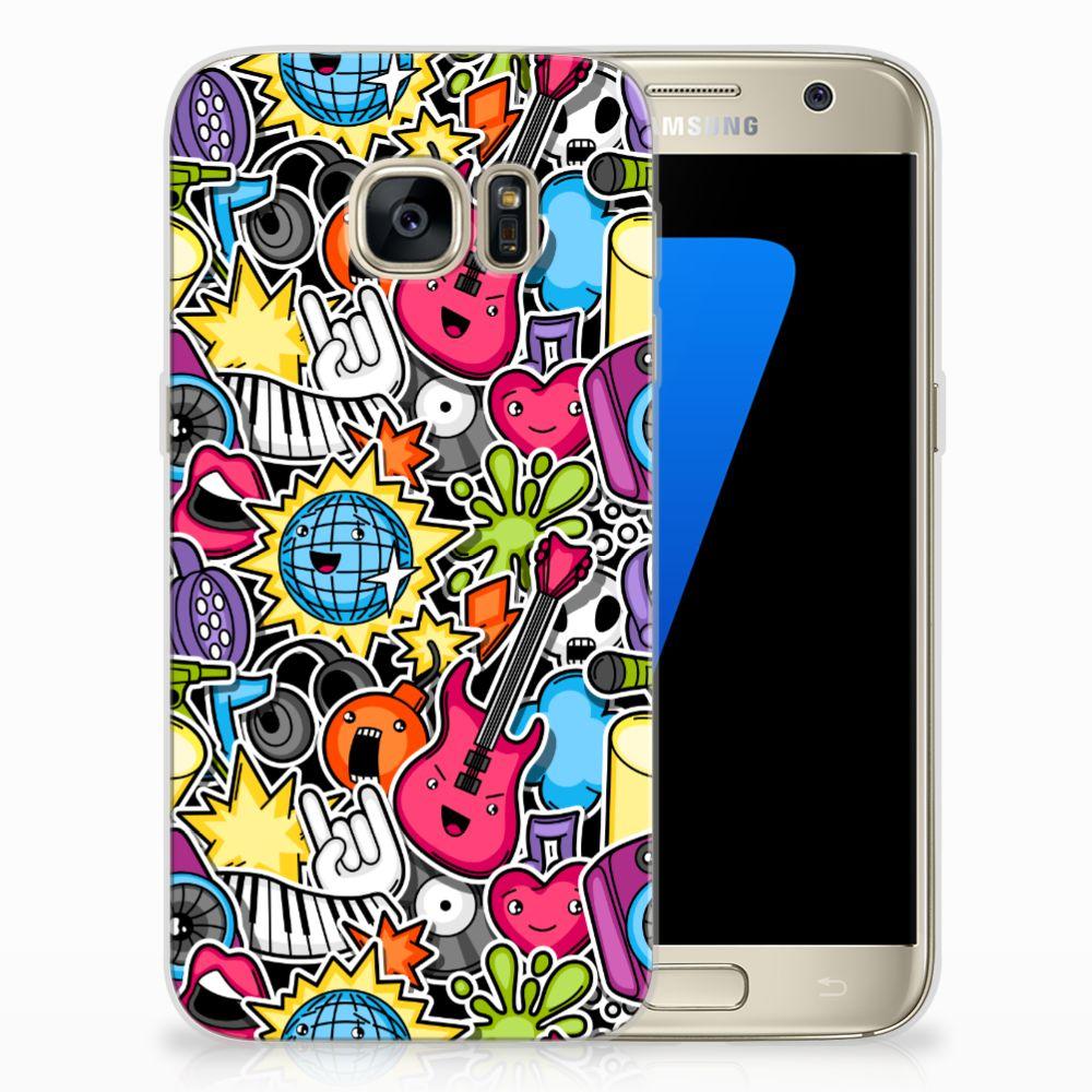 Samsung Galaxy S7 Uniek TPU Hoesje Punk Rock