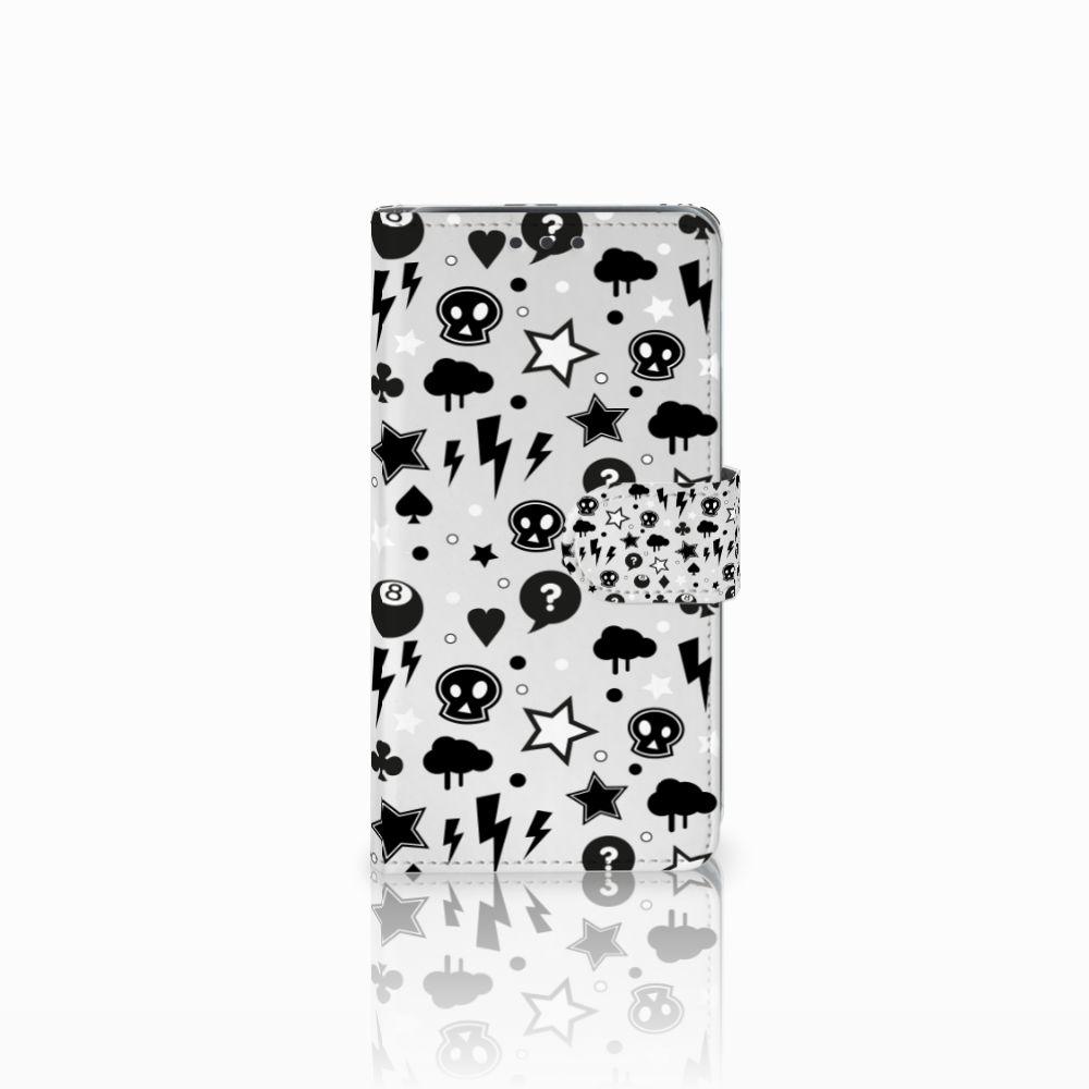 Samsung Galaxy J5 (2015) Uniek Boekhoesje Silver Punk