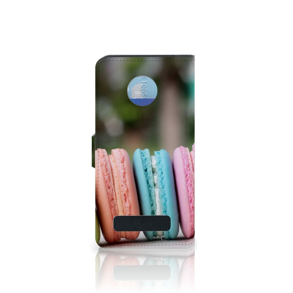 Motorola Moto Z Play Book Cover Macarons