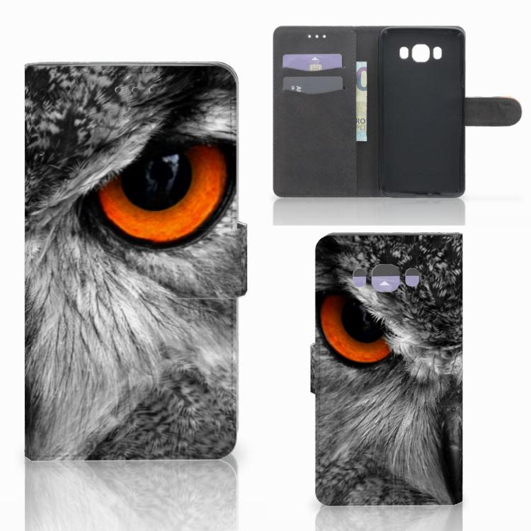 Samsung Galaxy J7 2016 Telefoonhoesje met Pasjes Uil