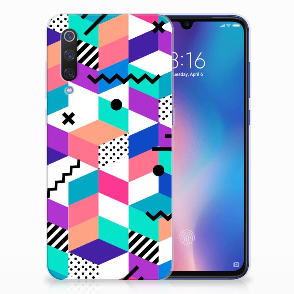 Xiaomi Mi 9 TPU Hoesje Blokken Kleurrijk
