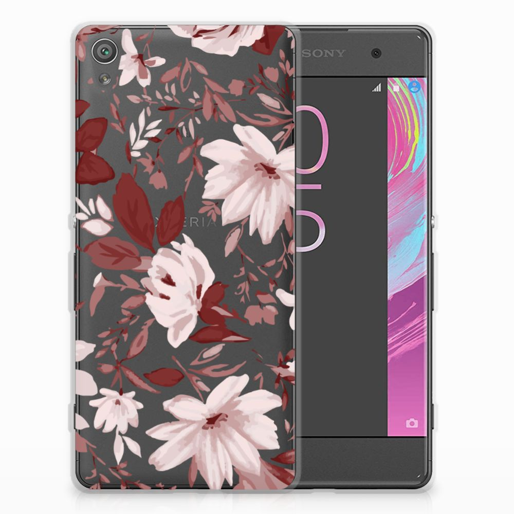 Sony Xperia XA | XA Dual Uniek TPU Hoesje Watercolor Flowers