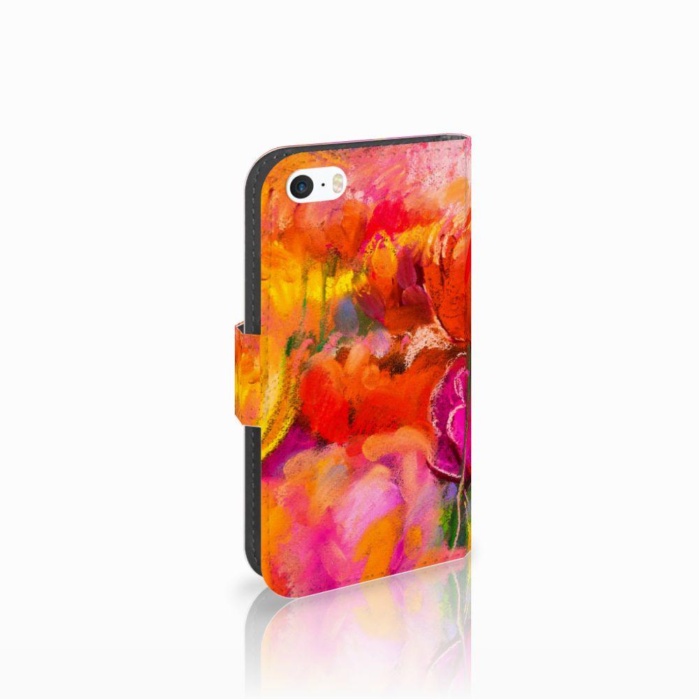 Apple iPhone 5   5s   SE Boekhoesje Design Tulips