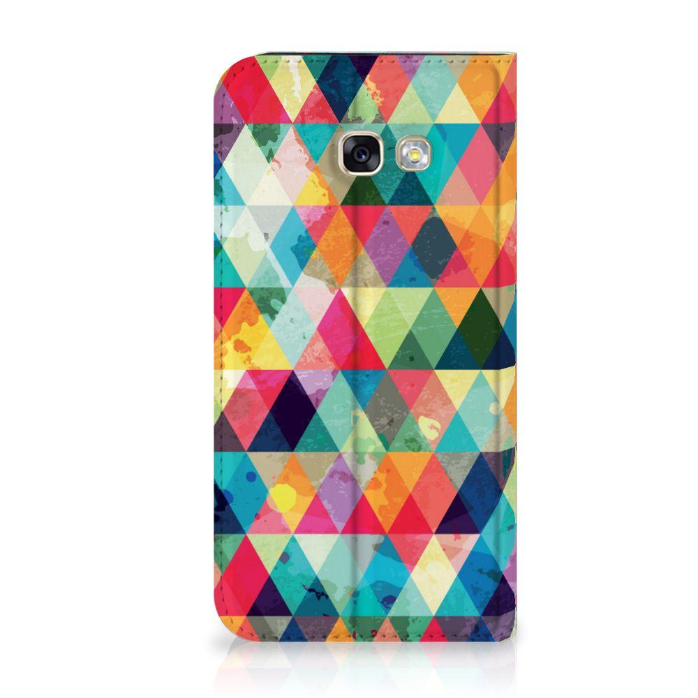 Samsung Galaxy A5 2017 Uniek Standcase Hoesje Geruit