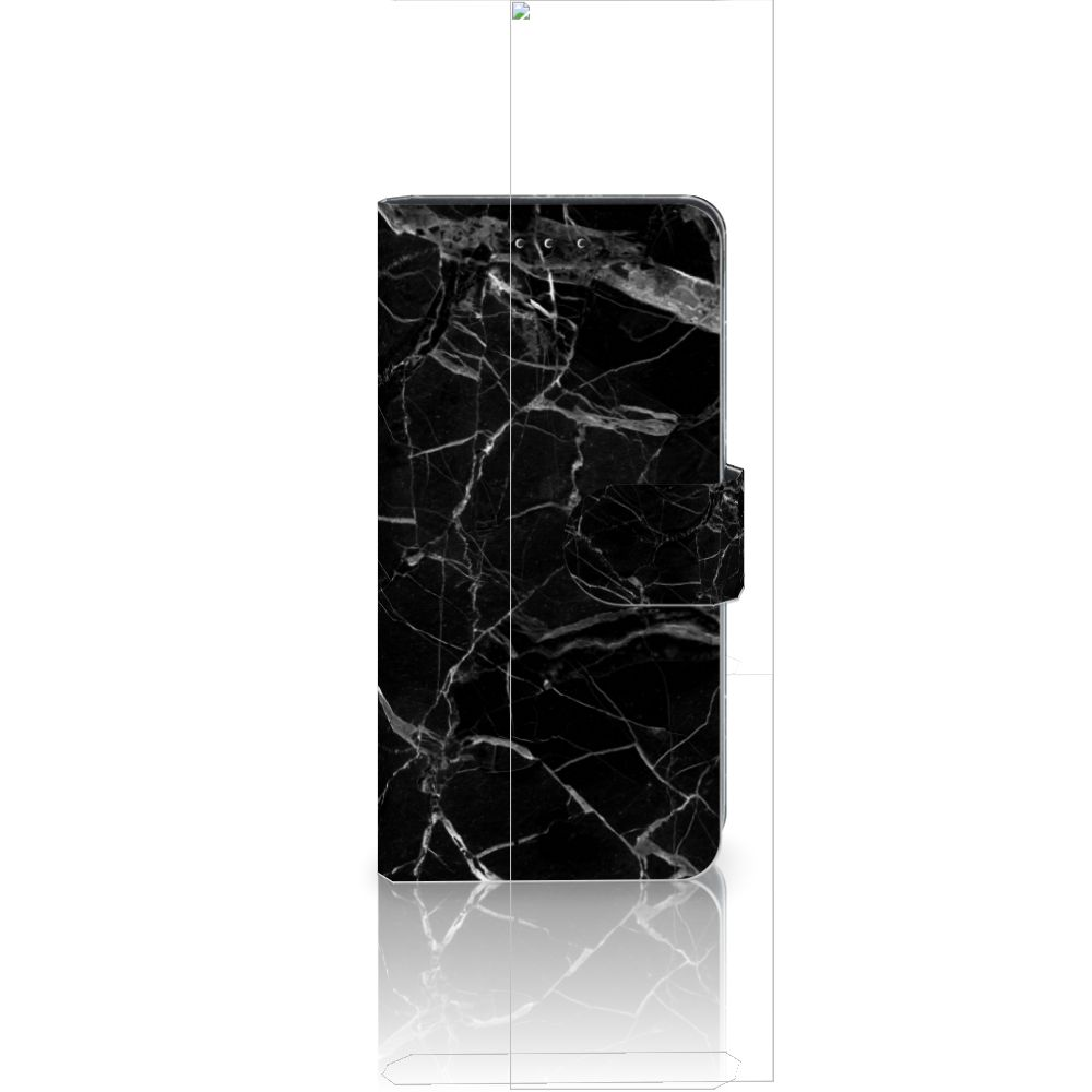 Huawei P20 Uniek Boekhoesje Marmer Zwart