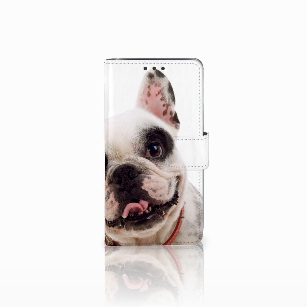 Samsung Galaxy J5 (2015) Telefoonhoesje met Pasjes Franse Bulldog