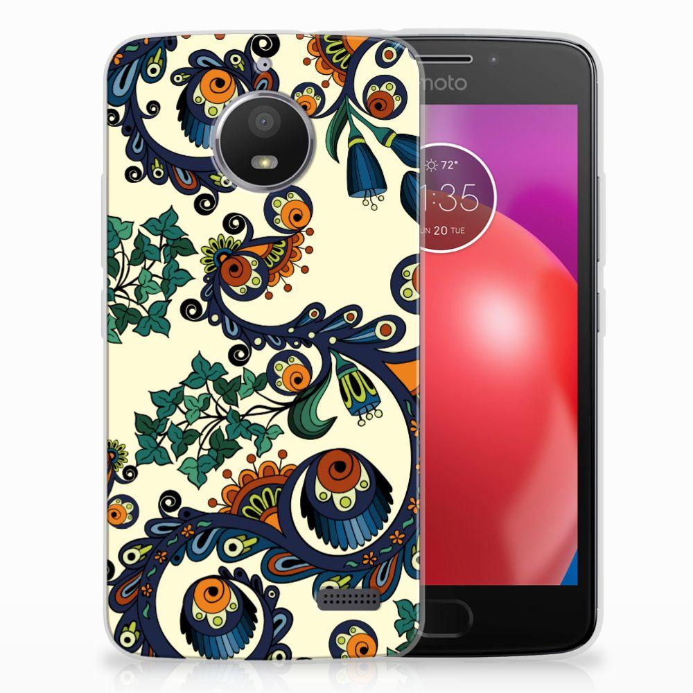 Siliconen Hoesje Motorola Moto E4 Barok Flower