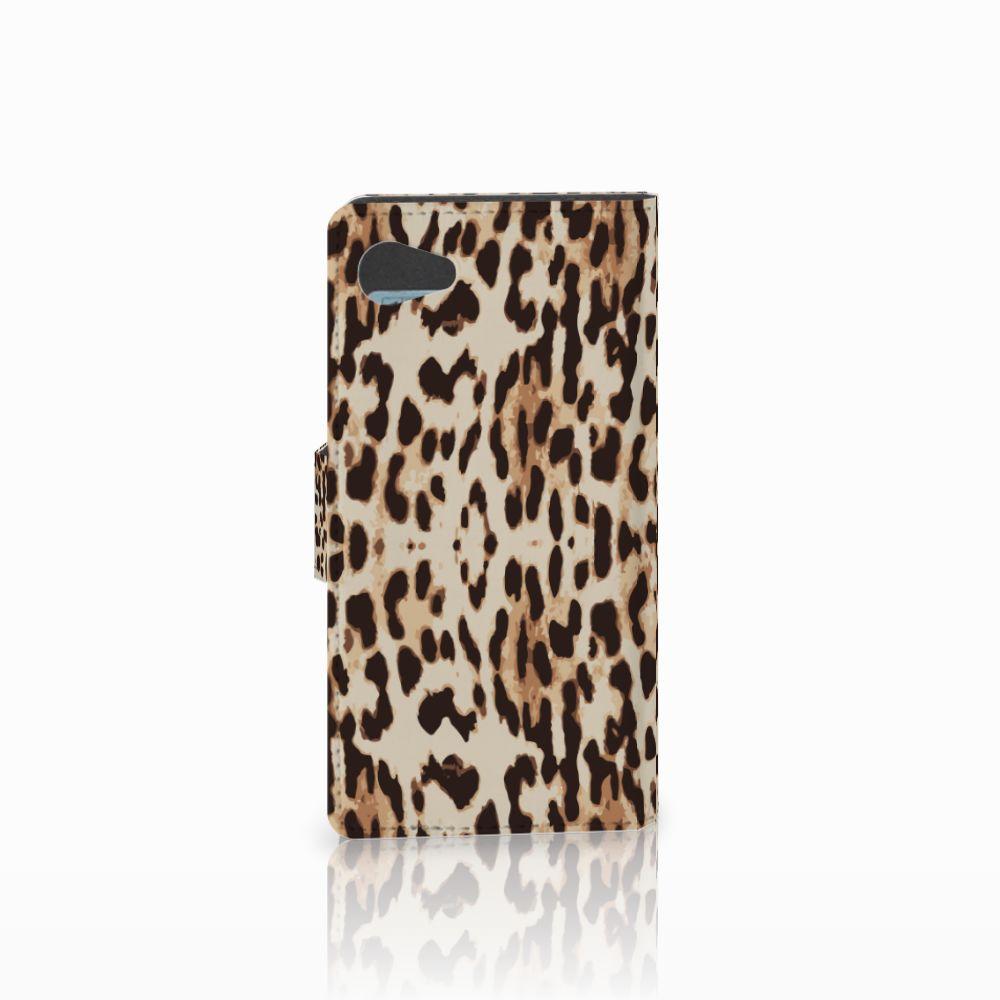 Sony Xperia Z5 Compact Telefoonhoesje met Pasjes Leopard