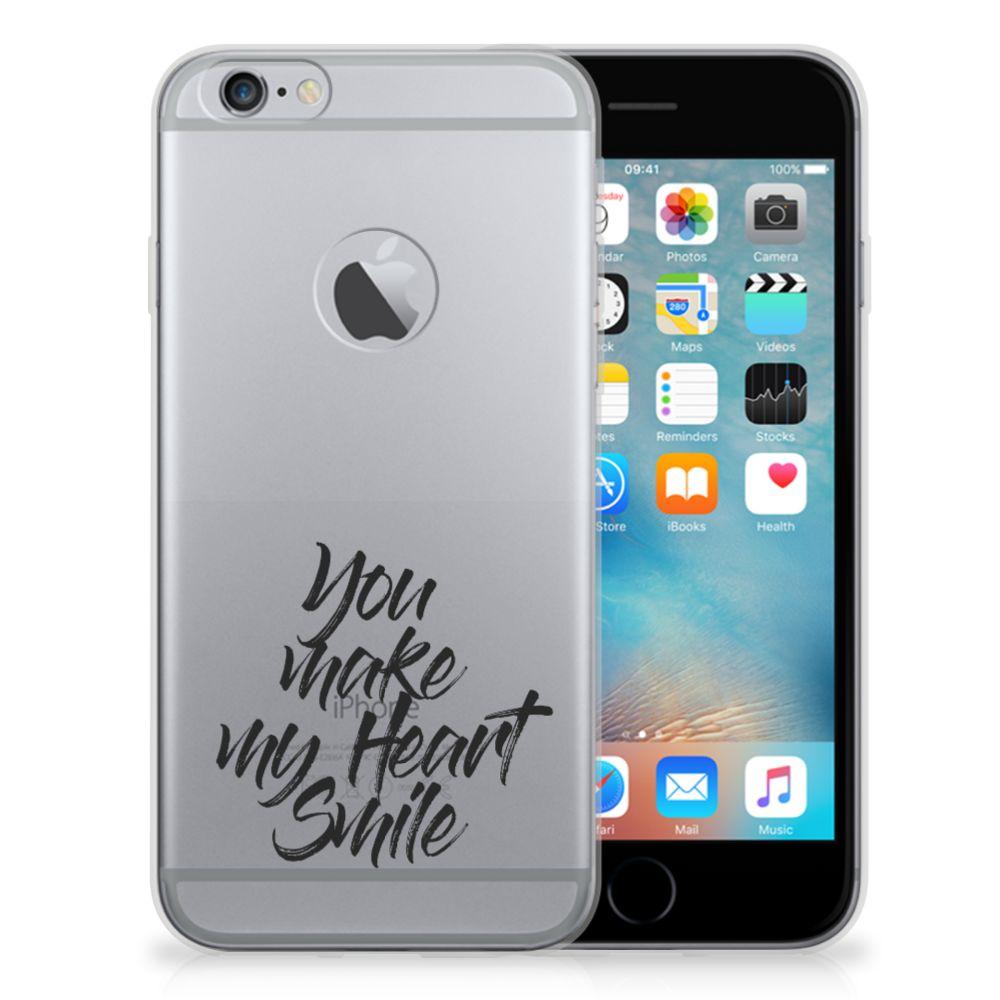 Apple iPhone 6 Plus | 6s Plus Siliconen hoesje met naam Heart Smile