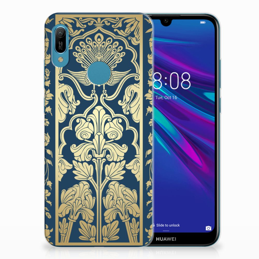 Huawei Y6 2019 | Y6 Pro 2019 TPU Case Golden Flowers