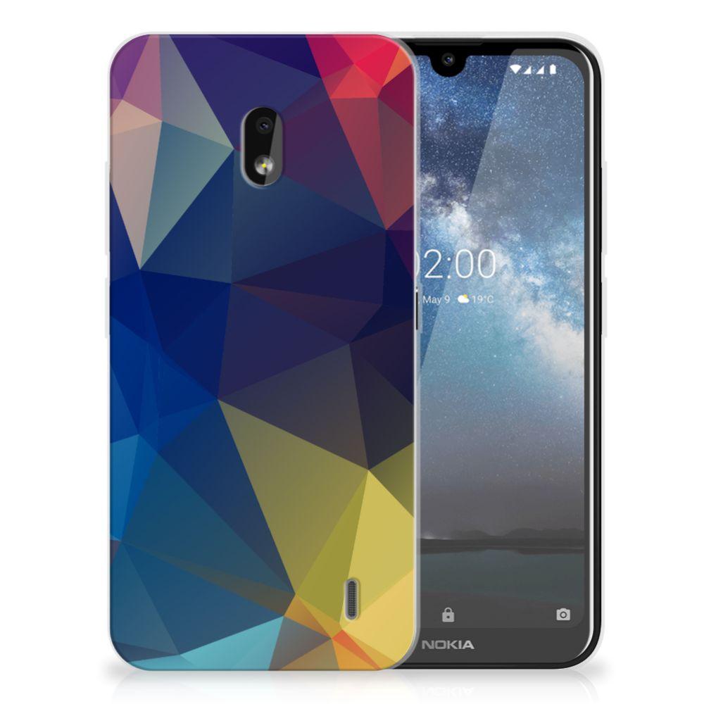 Nokia 2.2 TPU Hoesje Polygon Dark