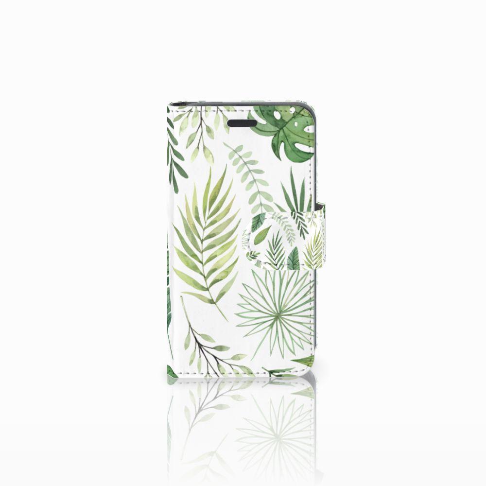 Nokia Lumia 520 Uniek Boekhoesje Leaves