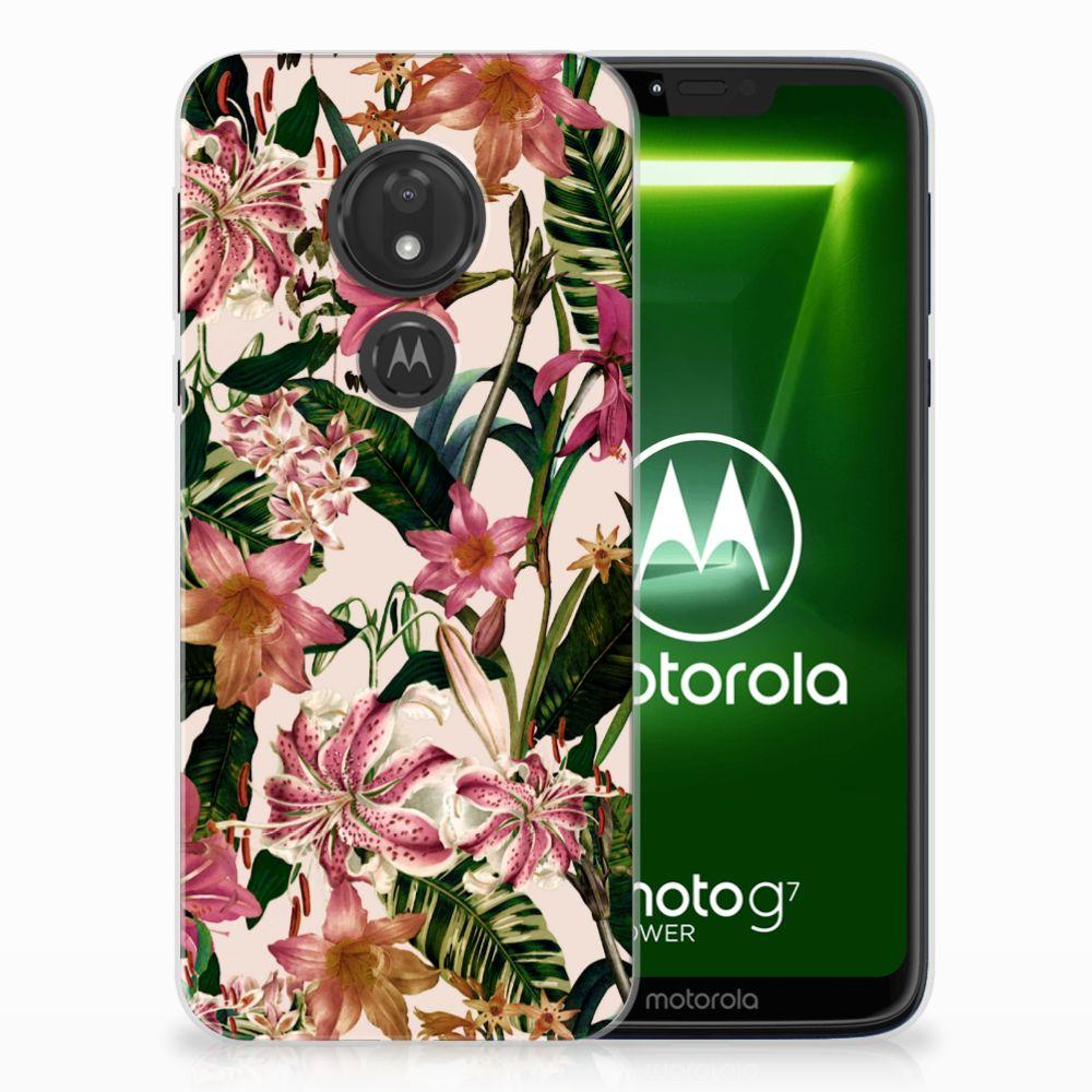 Motorola Moto G7 Power Uniek TPU Hoesje Flowers