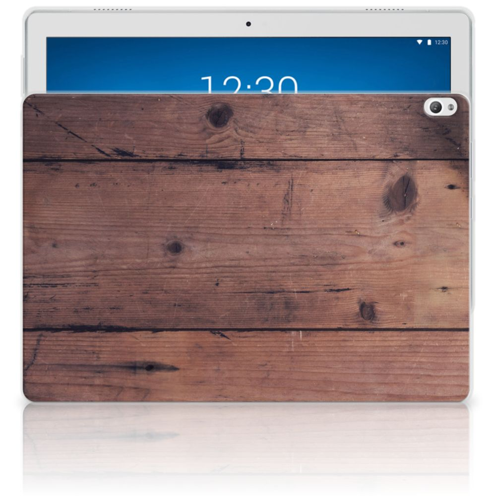 Lenovo Tab P10 Silicone Tablet Hoes Old Wood