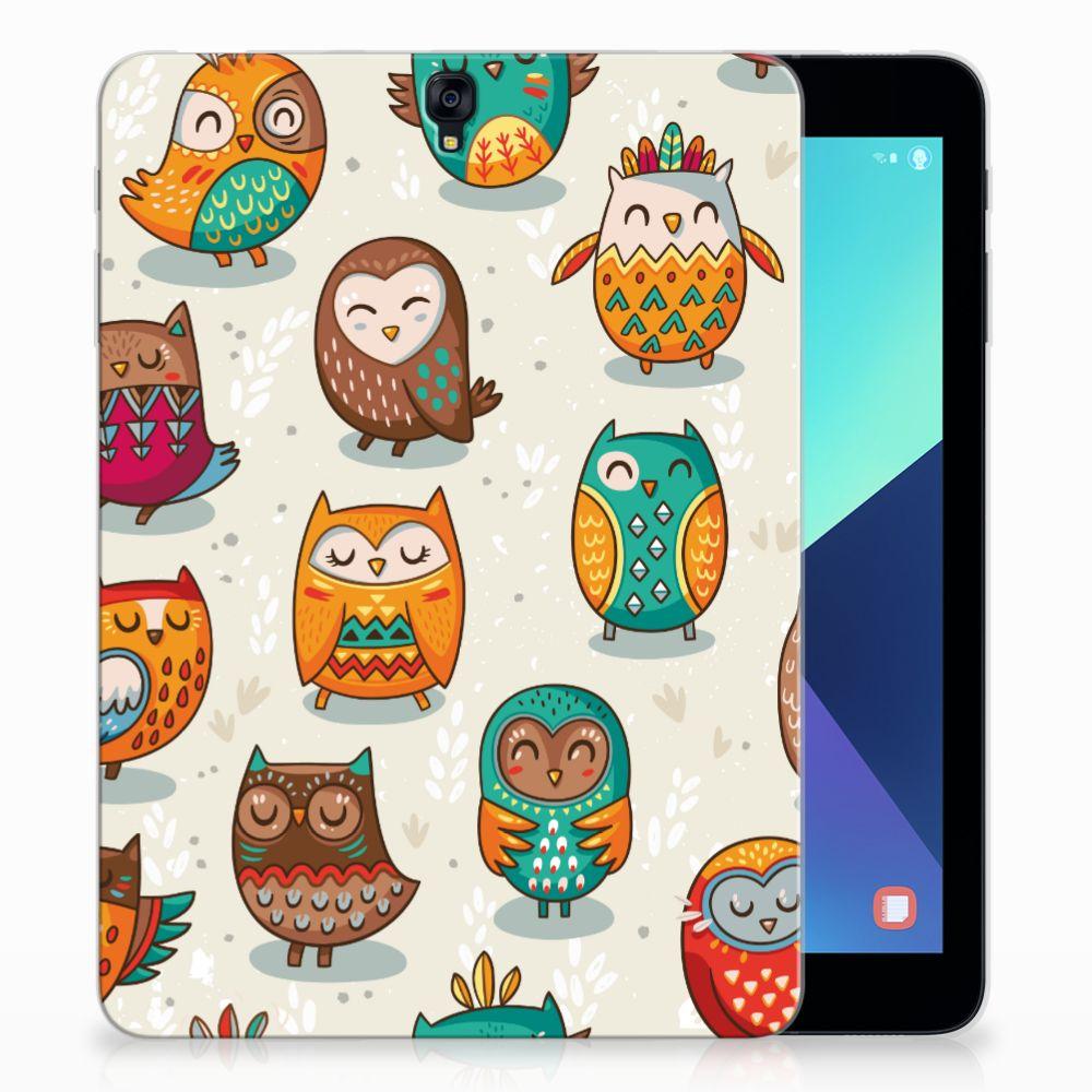 Samsung Galaxy Tab S3 9.7 Back Case Vrolijke Uilen