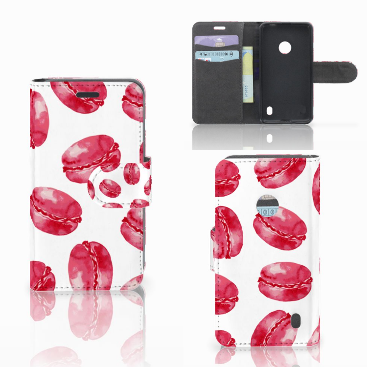 Nokia Lumia 520 Book Cover Pink Macarons