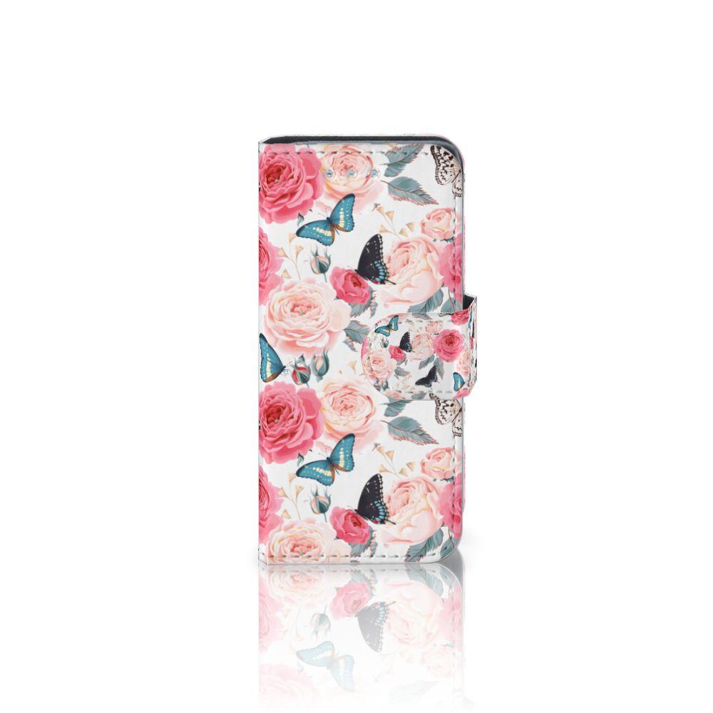 Samsung Galaxy S4 Mini i9190 Uniek Boekhoesje Butterfly Roses