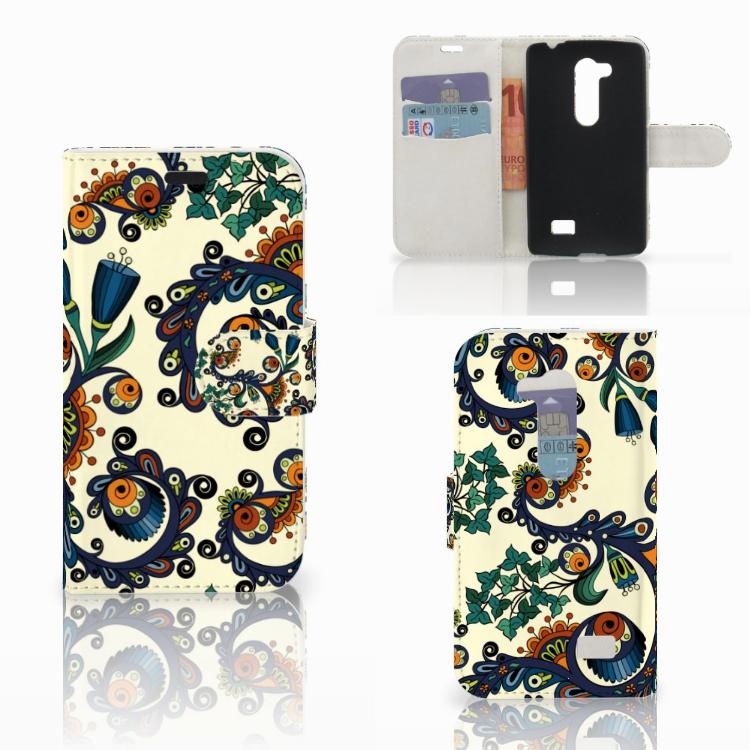 Wallet Case LG L Fino Barok Flower