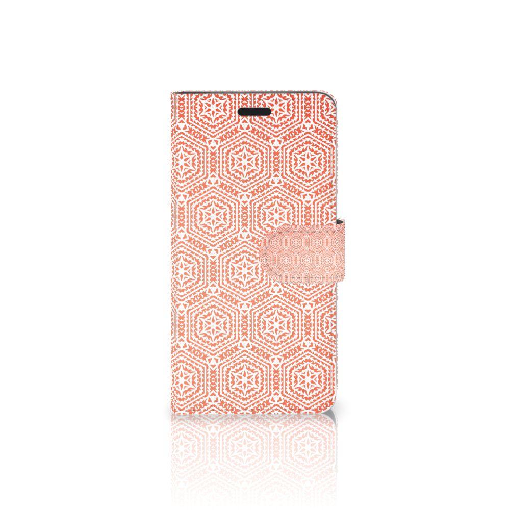 HTC 10 Uniek Boekhoesje Pattern Orange