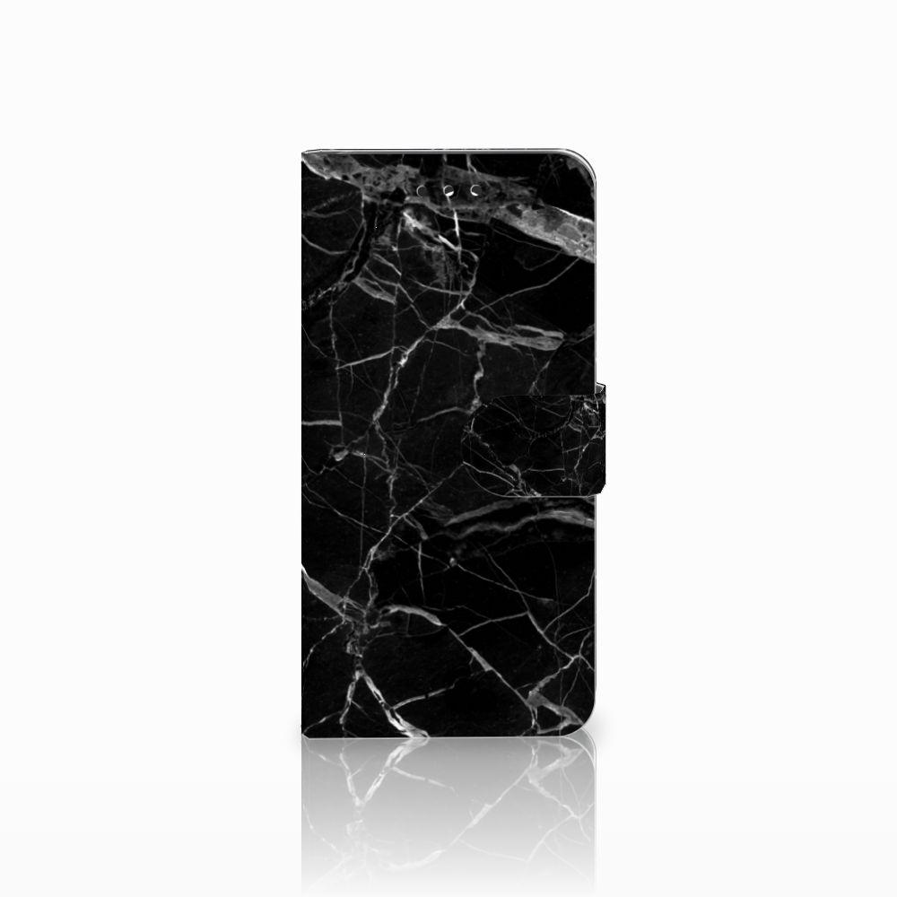 LG G7 Thinq Uniek Boekhoesje Marmer Zwart