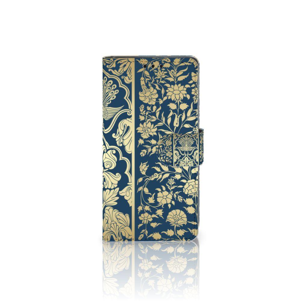 Sony Xperia Z5 | Z5 Dual Uniek Boekhoesje Golden Flowers