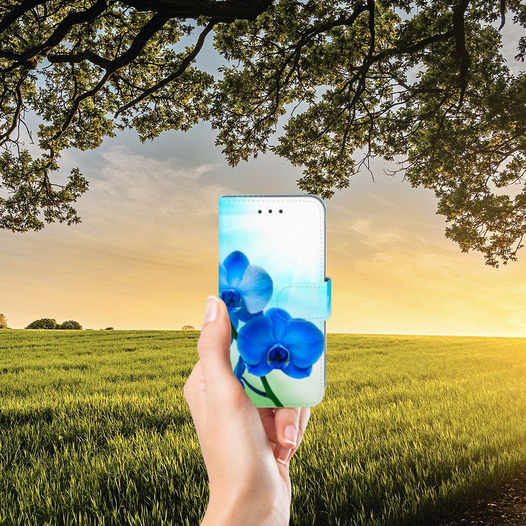Samsung Galaxy J3 2016 Hoesje Orchidee Blauw