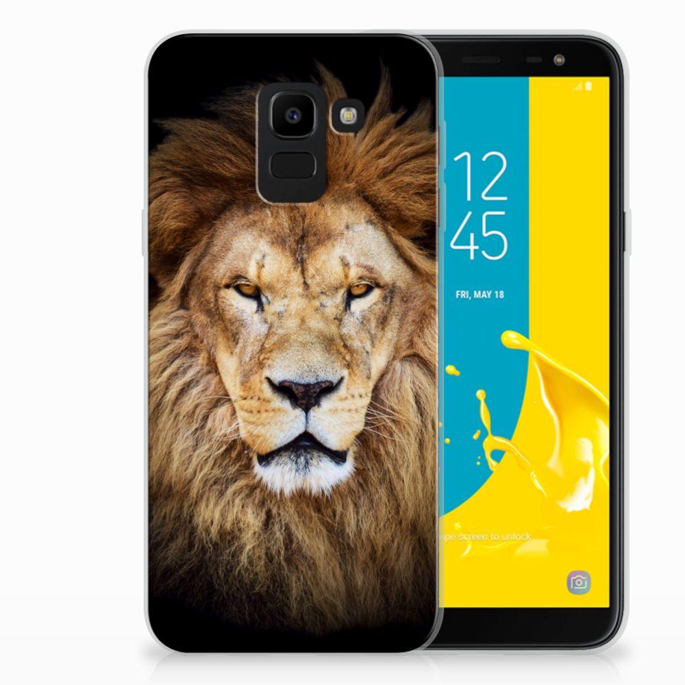 Samsung Galaxy J6 2018 TPU Hoesje Leeuw