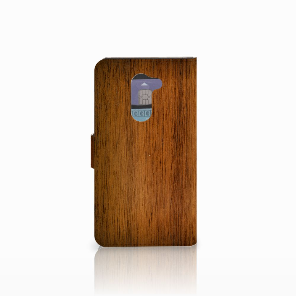 Huawei Honor 6X Book Style Case Donker Hout