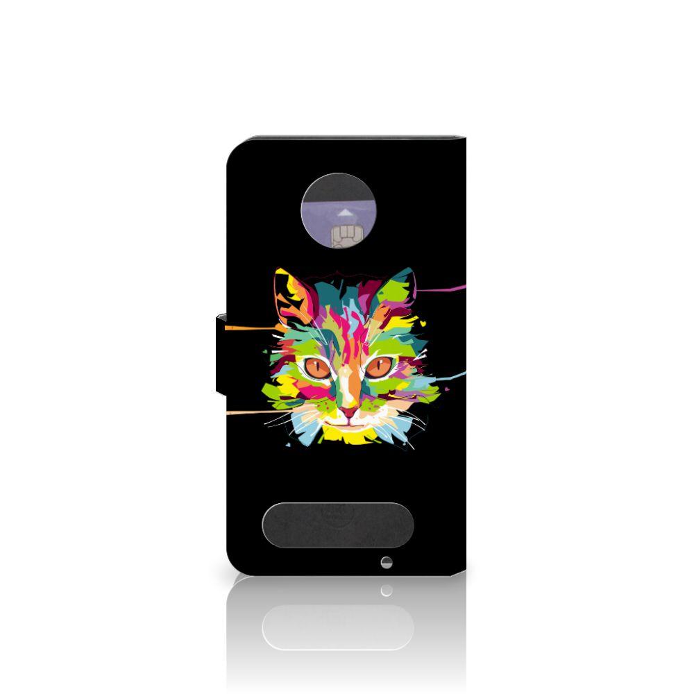 Motorola Moto Z2 Force Leuke Hoesje Cat Color