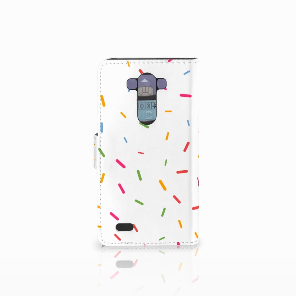 LG G3 Book Cover Donut Roze