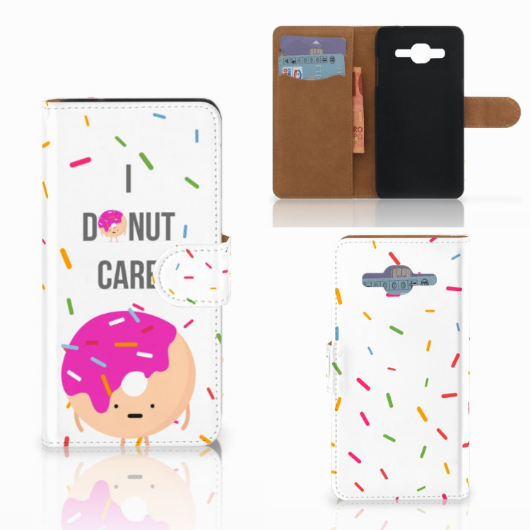 Samsung Galaxy J2 2016 Book Cover Donut Roze