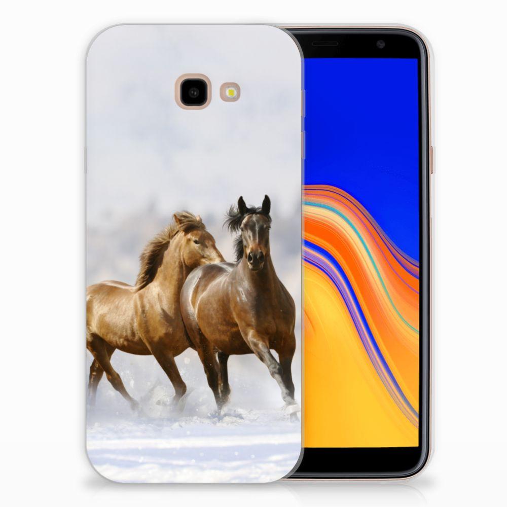 Samsung Galaxy J4 Plus (2018) Uniek TPU Hoesje Paarden