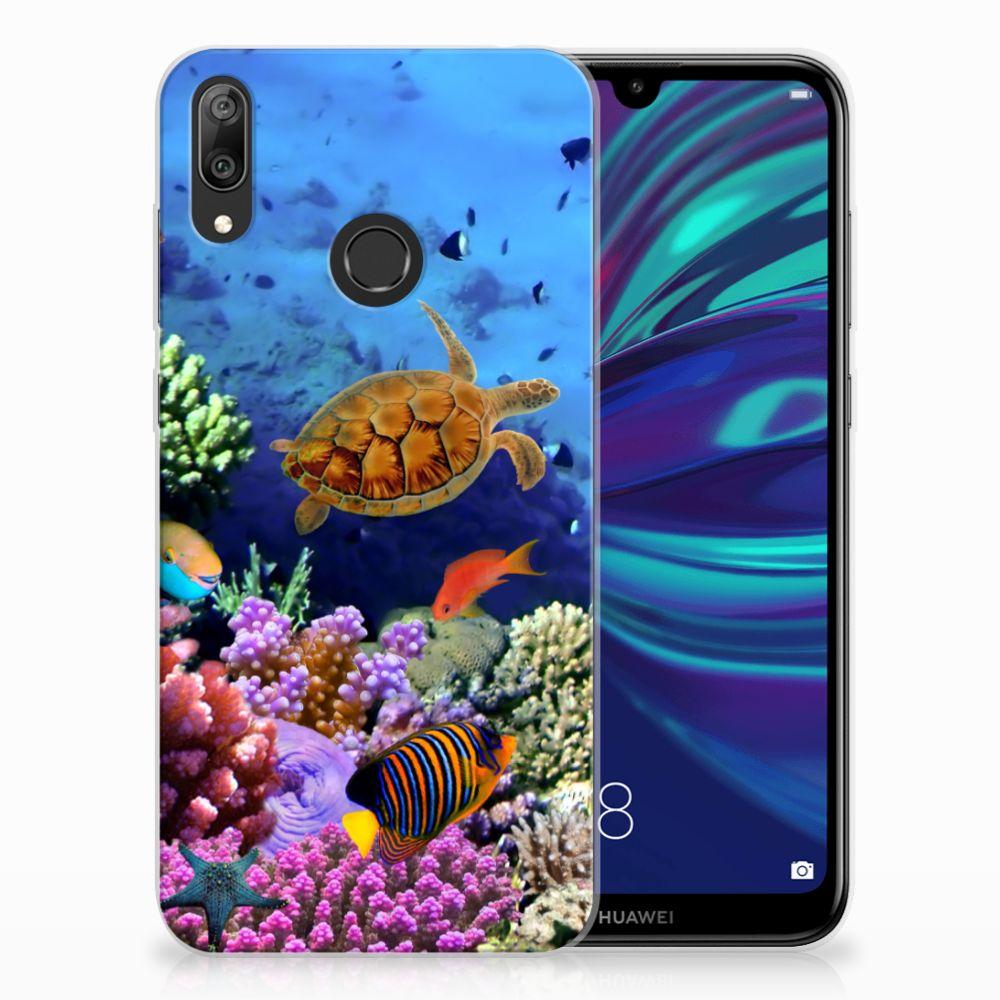 Huawei Y7 2019 Leuk Hoesje Vissen