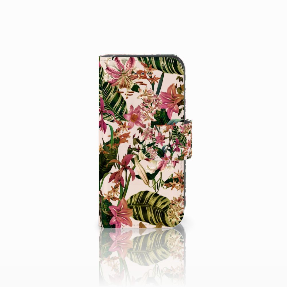 Apple iPhone 5C Uniek Boekhoesje Flowers