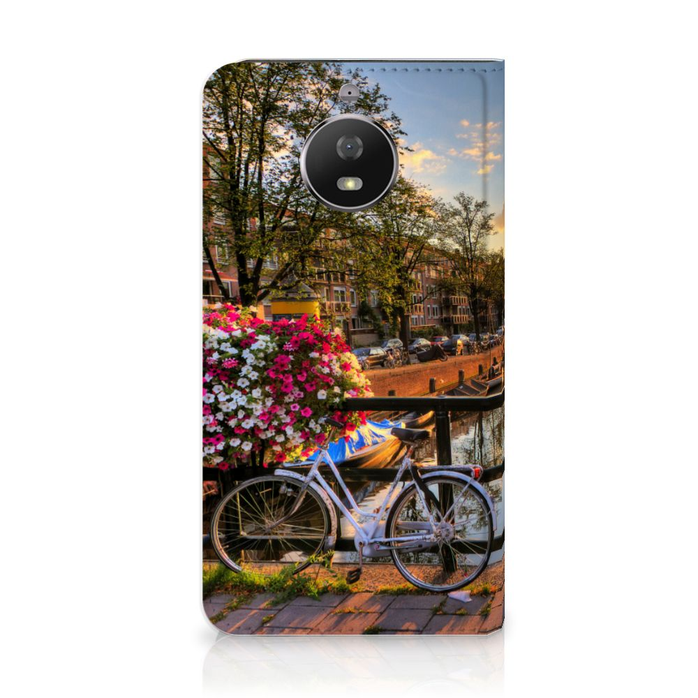 Motorola Moto G5S Uniek Standcase Hoesje Amsterdamse Grachten