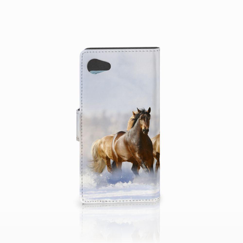 Sony Xperia Z5 Compact Telefoonhoesje met Pasjes Paarden