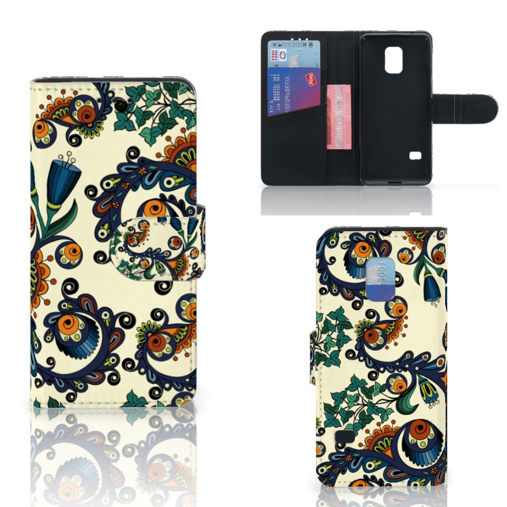 Wallet Case Samsung Galaxy S5 Mini Barok Flower