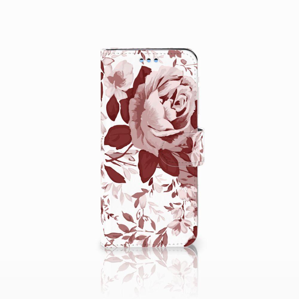 Samsung Galaxy S9 Uniek Boekhoesje Watercolor Flowers